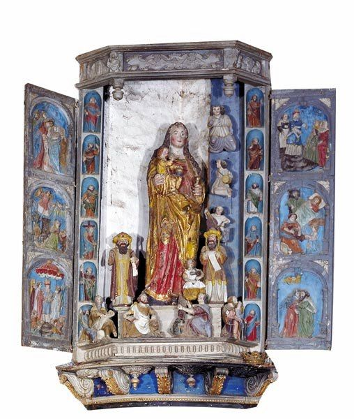 Spézet, chapelle ND du Crann, Statue de ND