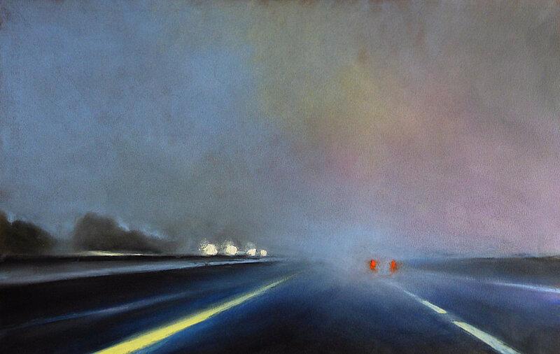 K'nowhere 90, oct 2017, pastel à l'huile, 48 x 32 cm