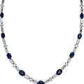 A fine sapphire and diamond pendant necklace