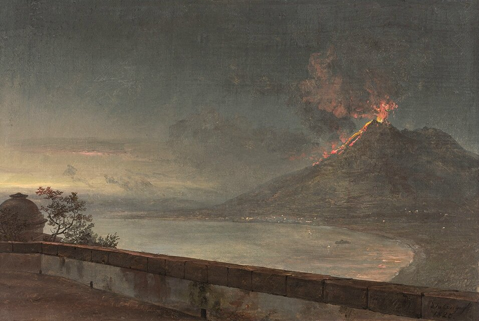 Nationalmuseum Sweden announces acquisition of 'View of Vesuvius from Villa Quisisana'