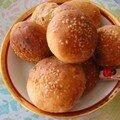 Les navettes ou pain à hamburger