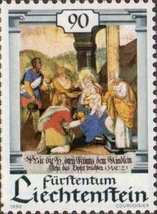 Timbre Epiphanie Liechtenstein 1990