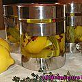 Citrons confits à l'huile d'olive (parfums et saveurs au rendez-vous)