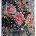 Bouquet de roses dans son vase