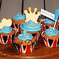 Swap carnets voyageurs : cupcake façon quatre-quart it's a boy - royal baby