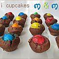 Mini cupcakes aux m&m's