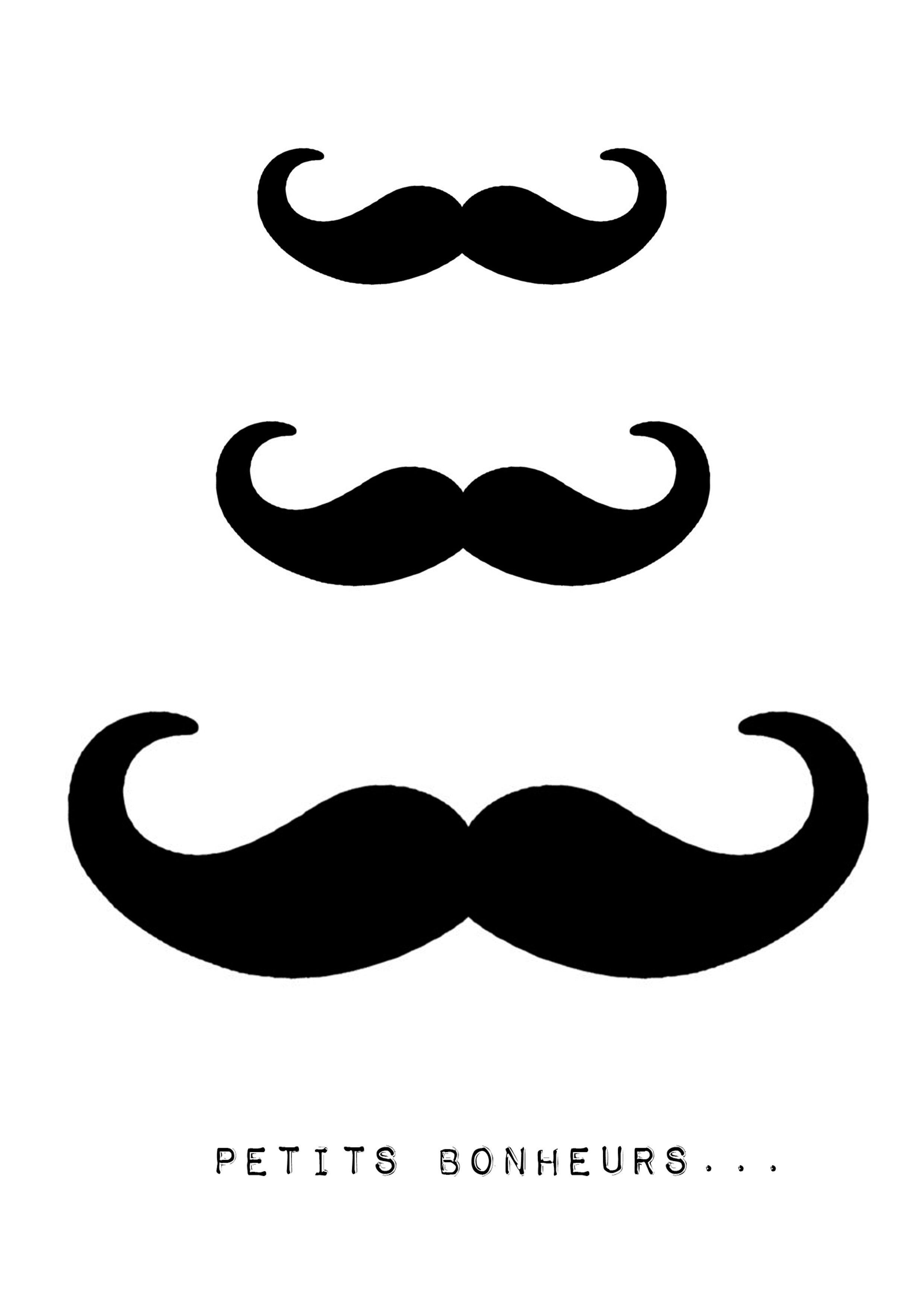 Moustache 4 petits bonheurs - Dessin de moustache ...