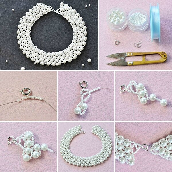 600-Pearl-Jewelry-Design---How-to-Make-a-Handmade-White-Pearl-Bead-Statement-Necklace
