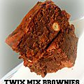 Twix mix brownies, banane & confiture lait