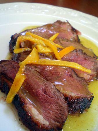 Magret de canard l 39 orange cuisiner avec ses 5 sens - Cuisiner magrets de canard ...