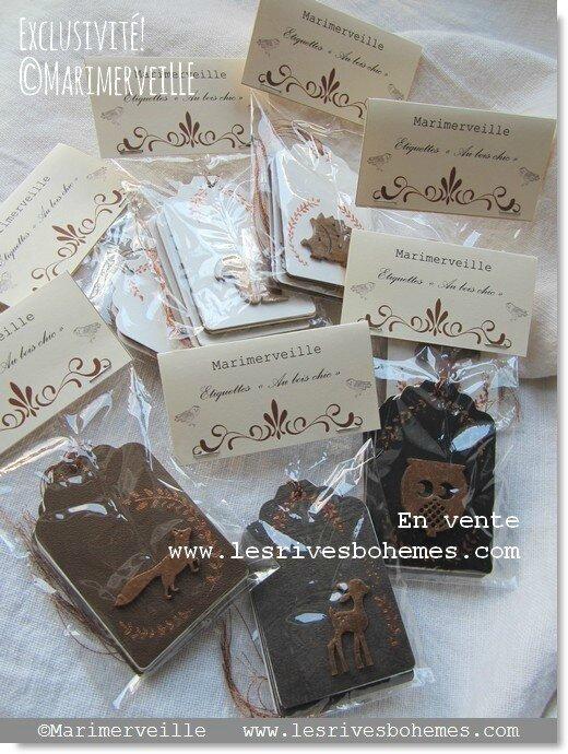 Marimerveille Collection étiquettes cadeaux Au bois chic