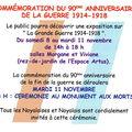 Commémoration guerre mondiale 14-18