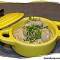 Cassolette de rognons de veau a la moutarde