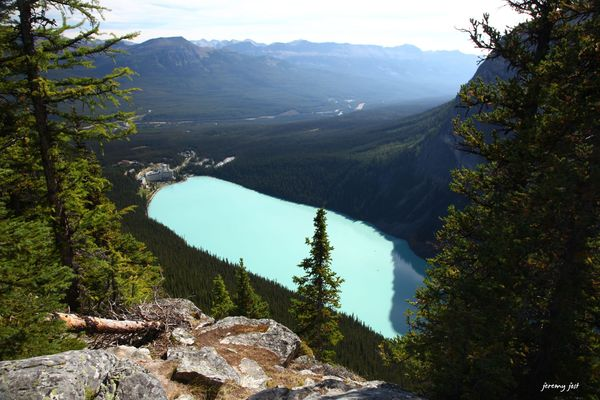 point de vue sur Lake Louise
