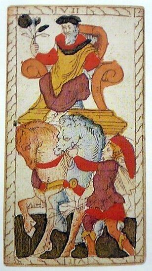 1557 Tarot catelin Geoffroy - Lyon- Chariot - forumdottarothistory