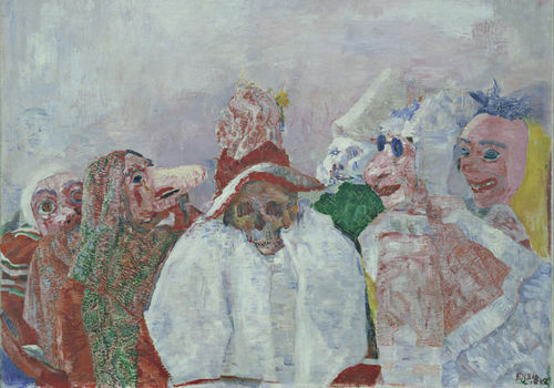 James Ensor. Masks Confronting Death, 1888. Oil on canvas. 32 x 39 ½