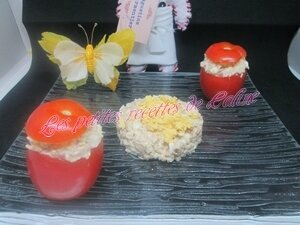 Tomates farcies froide Thon,oeuf mayonnaise22