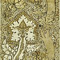 82 - Pisanello_-_Codex_Vallardi_2537 motif de brocart