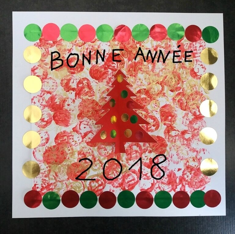 282_Noël et Nouvel an_Carte ou calendrier rouge et or (44c)