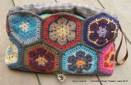 Pochette Hexagones Holst Garn face