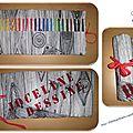 Trousse à crayons en tissu pour une collègue artiste