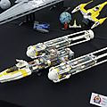 lego SW - Y-wing - Naboo fighter - morceau du stardestroyer