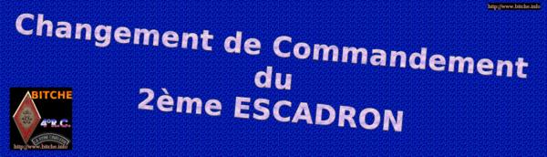 les CHANGEMENT de COMMENDEMENT DU 2ème ESCADRON 002