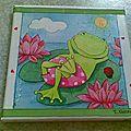 ~ tableau grenouille zen