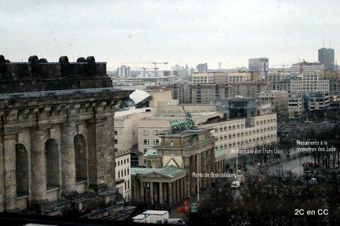 Vue panoramique - Terrasse Reichstag - Berlin