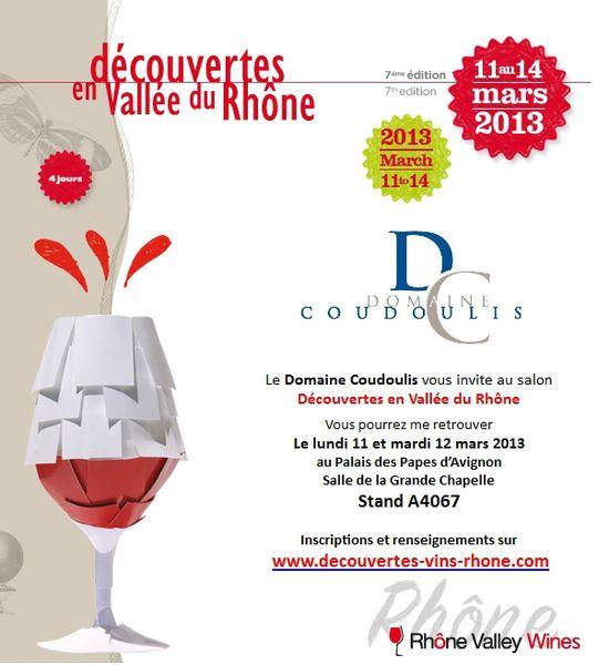 Invitation Découvertes en Vallée du Rhône