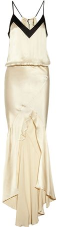 319415 Mason by Michelle Mason - Washed silk-charmeuse gown THE OUTNET