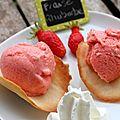 Sorbet fraise & rhubarbe