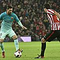 But messi sur coup-franc lors bilbao vs barcelone (vidéo) !