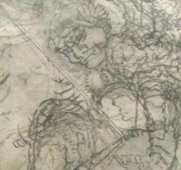 Hokusai 1830 Guerrier détail
