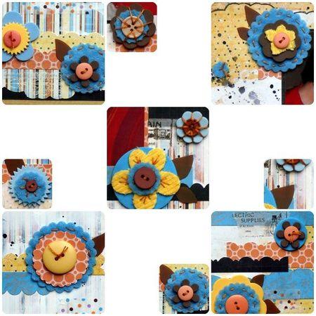 5 montage fleurs feutrine