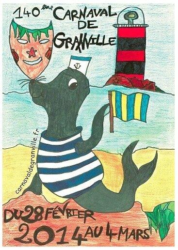 Carnaval de Granville 2014 affiche