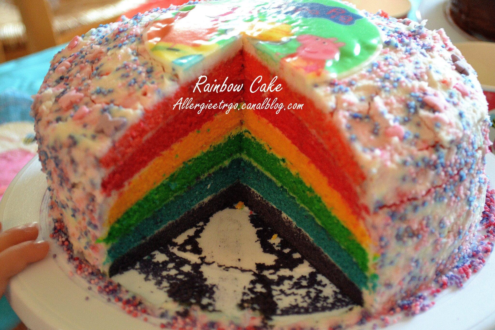 Rainbow cake sans prot ines de lait animal sans soja - Gateau sans oeuf ni lait ...