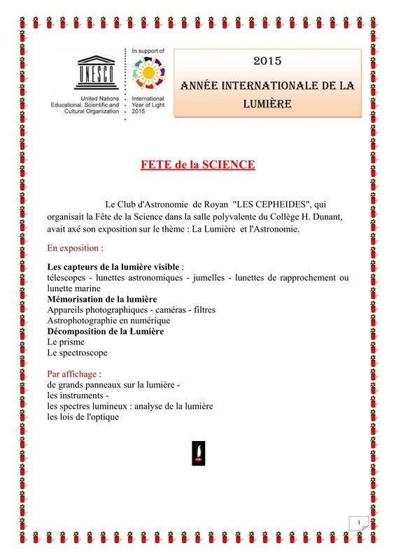 M Fête de la science