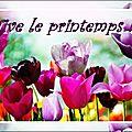 Zenopia/ défi listes : les petits plaisirs du printemps
