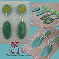 Boucles turquoises etching EGYPTE