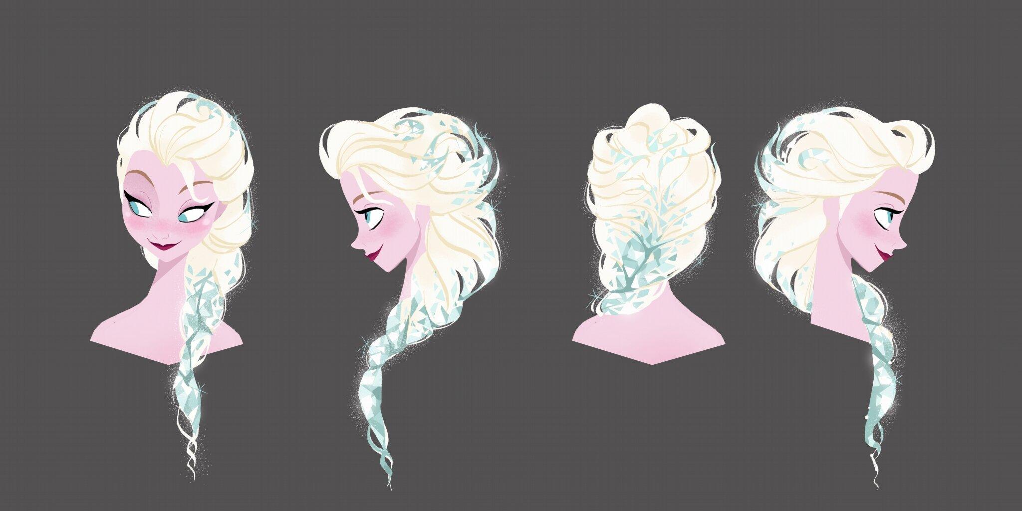 Причёска в стиле эльзы