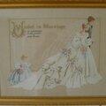 les mariés en broderie