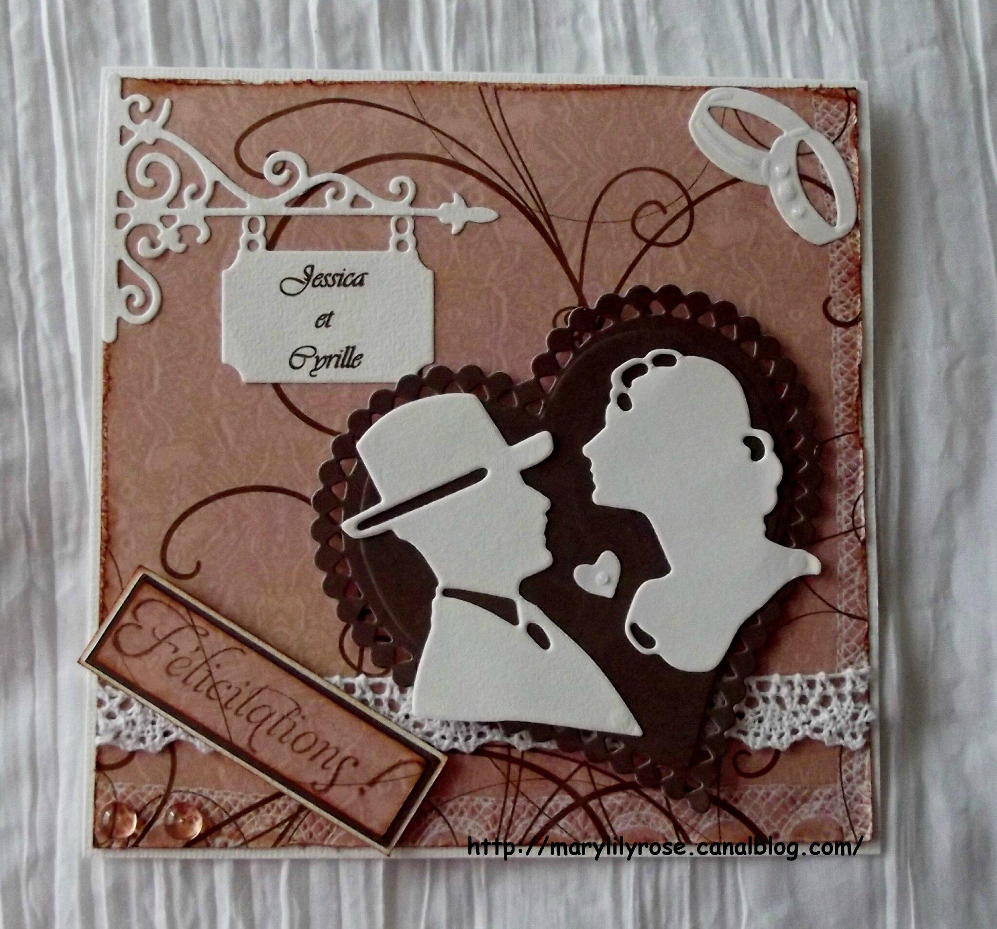 F licitation pour votre mariage marylilyrose scrap tout - Mot de felicitation mariage ...