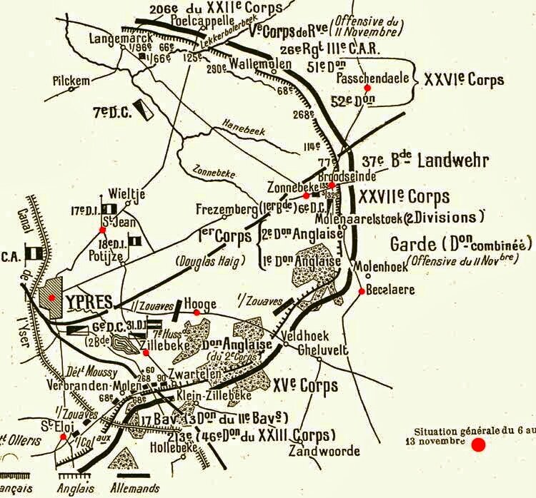 carte situation nov 1914