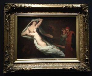 L'ange du Bizarre, le romantisme noir- Ary Scheffer, Les ombres de Paolo et Francesca dans la tourmente infernale, 1854