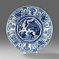 A Blue and White 'Kraak' Dish, Wanli period (1573-1619). Photo Stockholms Auktionsverk
