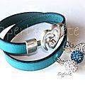 Bracelets double cuir