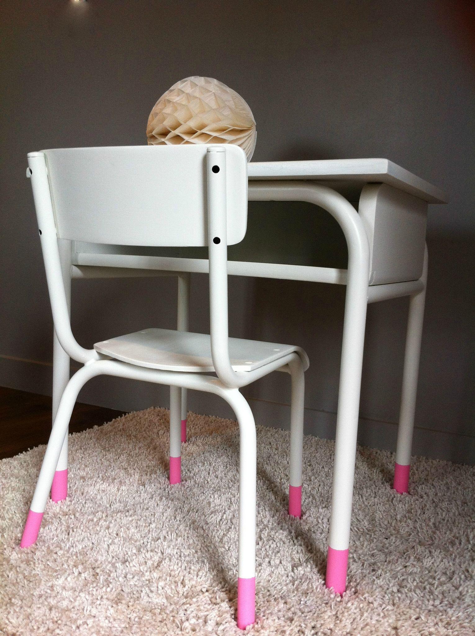 Bureau et petite chaise enfant vintage des id es douces - Bureau enfant princesse ...