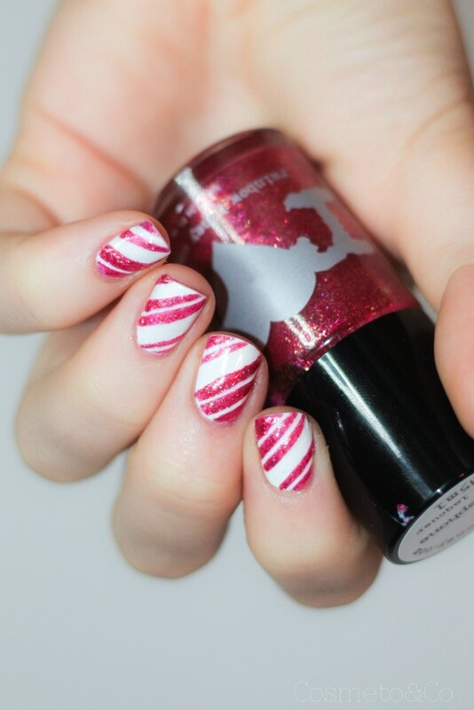nail art candy cane rainbow honey Persephone-2