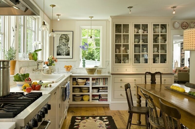 burlington-nice-kitchens-with-traditional-artificial-floral-arrangements-kitchen-farmhouse-and-china-on-display-rustic-chairs